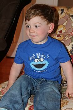 Cookie Monster Birthday Boy Shirt
