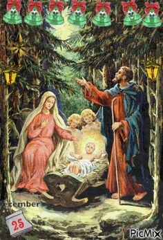 the birth of Jesus ❤️ . X ღɱɧღ Merry Christmas Happy Holidays, Christmas Love, Christmas Pictures, Religious Pictures, Religious Art, Jesus Christus, Happy Birthday Jesus, Theme Noel, Holy Family