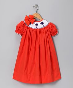 Hmmm... Does Mo need this so we can encourage her to be a Clemson Tiger? Orange Clemson Bishop Dress & Bow - Toddler & Girls