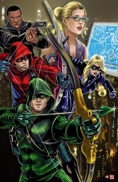 Wil Woods and Tyrine Carver - Green Arrow Arrow Cw, Arrow Oliver, Team Arrow, Comic Manga, Comic Art, Comic Books, The Flash, Univers Dc, Dc Legends Of Tomorrow