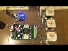 Arduino + TB6560 + GRBL Controller - YouTube