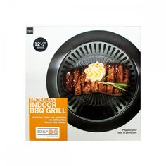 """Have a delicious barbecue cookout right in your kitchen without the smoke or mess with this convenient 12.5"""" Smokeless Indoor Barbecue Grill. This grill prepares food to perfection and is ideal for ga"""