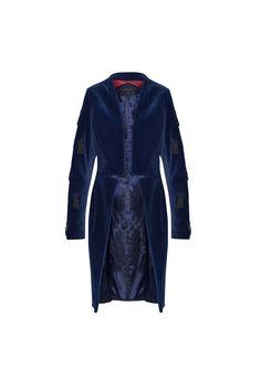 Frak Granatowy | WEAVE | Kolor: Granatowy | SHOWROOM Showroom, Leather Jacket, Model, Jackets, Fashion, Studded Leather Jacket, Down Jackets, Fashion Styles, Moda