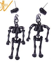 Long Silver Spike Dangle Drop Earrings ~ Gothic Punk Rock Chick x1 x2 dangly UK
