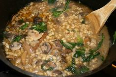 Clean Eating Barley Soup With Mushrooms and Kale