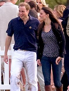 Will and Kate at polo match