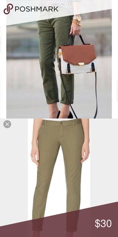 The Limited Olive Green Chino Pants 0 EUC  First photo for style idea. The Limited Pants Skinny