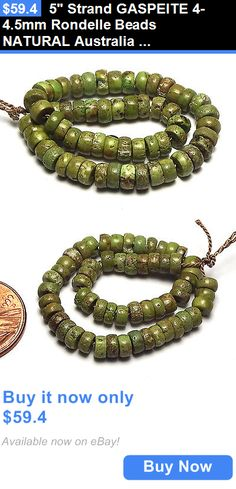 Women Jewelry: 5 Strand Gaspeite 4-4.5Mm Rondelle Beads Natural Australia /R16 BUY IT NOW ONLY: $59.4
