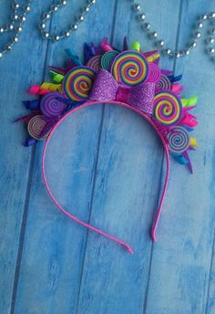Rainbow Headband Candy Headband Candyland inspired Sweet Treats Pink Rainbow Crown Baby Girl Headband Rainbow Candy party Birthday headband – Famous Last Words Rainbow Headband, Diy Headband, Baby Girl Headbands, Flower Headbands, Tea Party Hats, Birthday Party Hats, Birthday Candy, Baby Birthday, Candy Girls