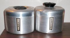 lovely vintage canisters at a great price! $12