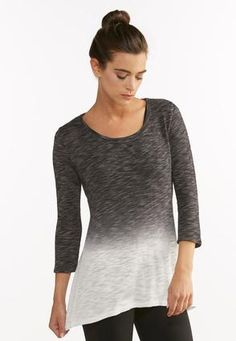 fe14fd6d759654 Cato Fashions Dip Dyed Cutout Back Athleisure Top  CatoFashions Dip Dyed