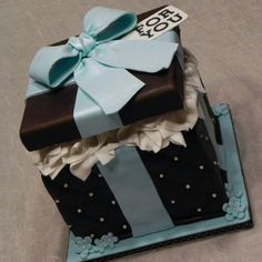 I created this cake as an charity auction piece.  Cake is Turtle flavor with Chocolate buttercream and chocolate fondant.  I followed the tu...