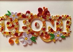 Self-made Paper Quilling name 'Leoni' Baby