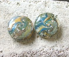 Lampwork Beads Silver Waves Jewelry Supplies for by CandanImrak, $25.00
