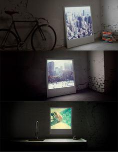 Lit Giant Polaroid frames by Polaboy