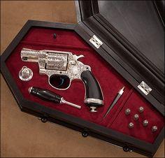The vampire gun at the National Firearms Museum. This is a vampire every day carry. Weapons Guns, Guns And Ammo, Rifles, Armas Ninja, Gun Art, Custom Guns, Fire Powers, Cool Guns, Self Defense