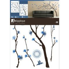 Tree Branches Blue Flowers Wall Mural Decal Sticker Art Applique,http://www.amazon.com/dp/B002PRDD3C/ref=cm_sw_r_pi_dp_81grtb0Y43E27XSX