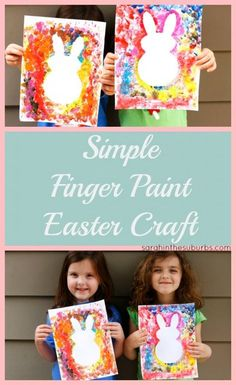 Simple Finger Paint Easter Craft http://www.sarahinthesuburbs.com/simple-finger-paint-easter-craft/