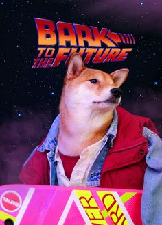 Great! Scott!! We're going bark to the future. Dogs in human clothes = the best. Very Doge. Much fashion.