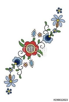 The Latest Trend in Embroidery – Embroidery on Paper - Embroidery Patterns Embroidery Designs, Folk Embroidery, Paper Embroidery, Vintage Embroidery, Embroidery Stitches, Machine Embroidery, Floral Embroidery, Polish Folk Art, Lazy Daisy Stitch