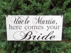 Here comes your bride 2 sided Wood Sign Double sided by Nesedecor