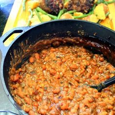 Inspired By eRecipeCards: Cowboy BBQ Pork and Beans Quick and Sweet - Feeding Larry Pt 12 - Grilling Time Side Dish