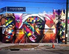 Eduardo Kobra Tupac Mural  Eduardo Kobra Tupac Mural in Wynwood Miami Art Basel