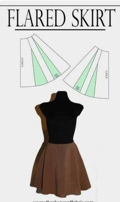 Pattern Skirt, Flare Skirt, Atari Logo, Skirts, Flared Skirt, Patterned Skirt, Skirt, Gowns