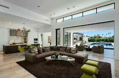 Calvis Wyant Luxury Homes - Luxe Interiors + Design Custom Home Builders, Custom Homes, Modern White Living Room, Hotel Restaurant, Clerestory Windows, Contemporary Kitchen Design, Modern Contemporary, 3d Home, Building A New Home