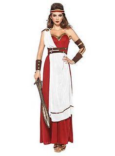 Griechische Göttin Kostüm Spartanerin ► Jetzt kaufen | maskworld.com #karneval #fasching #antike #göttin #rot #weiß #griechisch