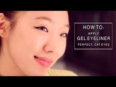 How to apply eyeliner for asian eyes & monolids / How to do winged eyeliner Tutorial 메이크업 - YouTube