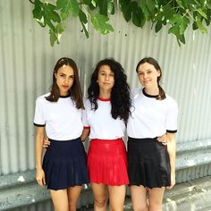 Our Melbourne girls in Ringer tees and Tennis skirts! #AmericanApparel #AAemployees #ChapelStreet