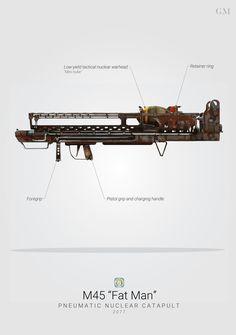 Fat Man Nuclear Launcher - Fallout by graphicamilitare.deviantart.com on @DeviantArt