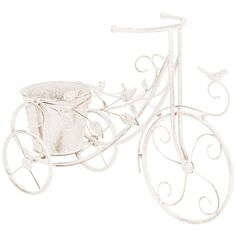 Tricycle Planter Decorative Planters, Shabby Chic Style, Tricycle, Special Events, Planter Pots, Shapes, Bird, Metal, Garden