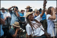 Charmaine Neville enjoying the Meters at Jazz Fest 2015 day 7. Photo by Ryan Hodgson-Rigsbee (rhrphoto.com)