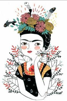 Ideas For Wall Paper Frida Kahlo Image Art And Illustration, Illustrations Posters, Maria Hesse, Kahlo Paintings, Frida Art, Posca Art, Diego Rivera, Arte Popular, Grafik Design
