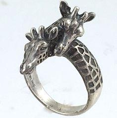 Giraffe Ring Sterling Silver