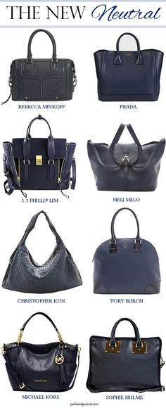 loving navy purses