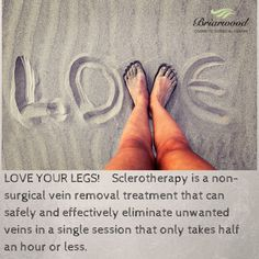 Love your legs! Sclerotherapy is a non-surgical vein removal treatment that can safely and effectively eliminate unwanted veins in a single session that http://www.briarwoodsurgical.com
