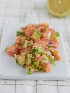 Avocado-Lachs-Salat // avocado-tuna salad