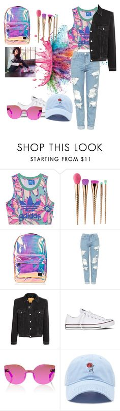 """""""Holo adidas"""" by fashionatitsgreatest ❤ liked on Polyvore featuring Givenchy, adidas Originals, tarte, Spiral, Topshop, Balenciaga, adidas NEO, Converse, RetroSuperFuture and Forever 21"""