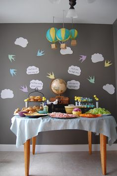Oh the places you'll go baby luncheon