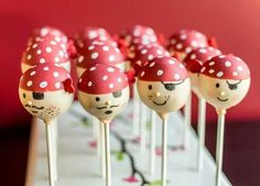 Pirate Cake Pops made by Carmen's Sweet Creations!