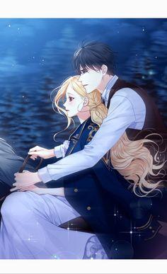 Return of the Female Knight - korean ranobe - art Anime Love Couple, Couple Cartoon, Couple Art, Anime Couples Drawings, Anime Couples Manga, Manga Anime, Girls Anime, Anime Art Girl, Female Knight