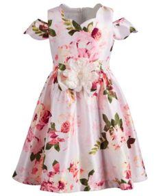 3a3f4de6d819 Bonnie Jean Little Girls Floral Shantung Dress - Pink 6