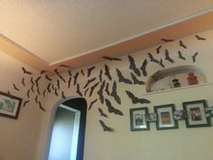 Flock of bats in the living room Bat Silhouette, Pinterest Projects, Bats, Silhouettes, Living Room, Home Decor, Homemade Home Decor, Drawing Room, Sitting Area