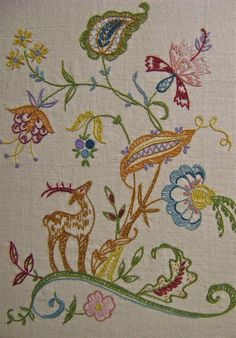 vintage embroidery - my mom had a pillow and a print of this type of design and they both fascinated me as a child