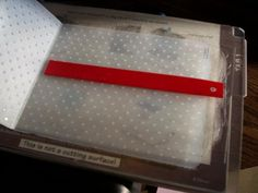 "embossing ribbon--WHAT???? Awesome! Then use your ""X"" xyron sticker maker to adhere the ribbon to your project."