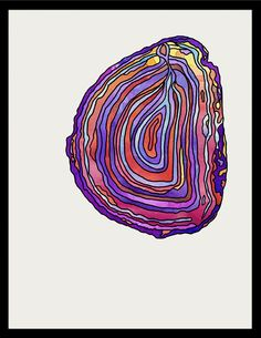 Option-G :: art direction-design-illustration-animation. Purple geode watercolor print