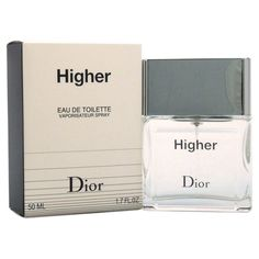 Higher - https://www.perfumes.com/higher-christian-dior-men-1-7-oz/ - Launched by the design house of Christian Dior in the year 2001. This woody aromatic fragrance has a blend of peach, basil, citrus, pear, rosemary, spice, cypress, musk, and pear wood notes.